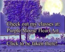 Purple Moose Heart Art