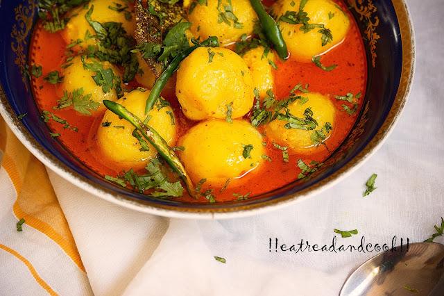 how to cook dahi wale aloo recipe