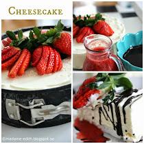 Cheesecake på köpt marängbotten