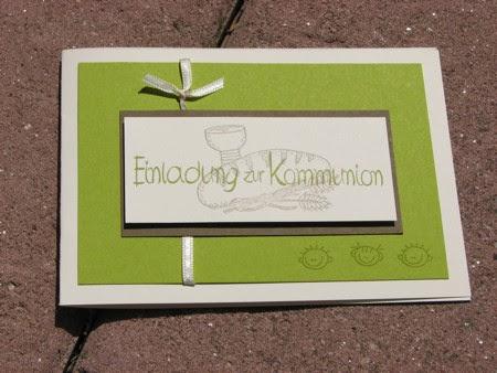 einladungen zur erstkommunion, Einladung