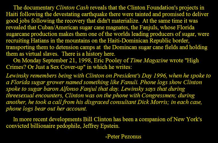 Clinton Cashing In?