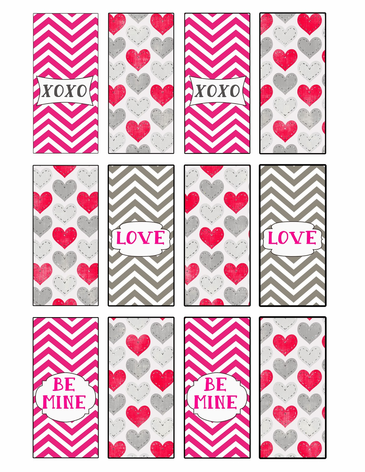 Desert peach design valentines mini candy bar wrappers for Valentine candy bar wrapper templates