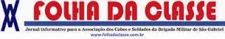 Logo do Jornal Folha da Classe, www.folhadaclasse.com.br e www.facebook.com/jornalfolhadaclasse