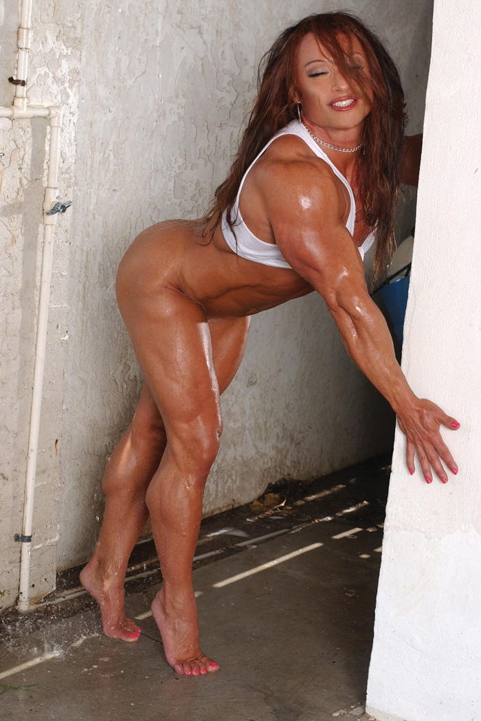 young sexy muscle girl monica millica