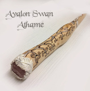 Avalon Swan Athame from MoonsCrafts