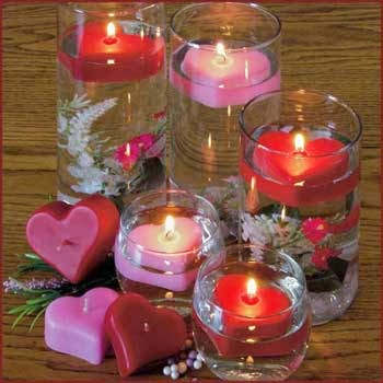 http://www.candlefactorystore.com/small-floating-heart-candle-package-of-12/