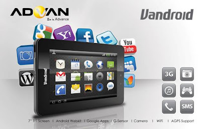 advan vandroid berikut daftar harga tablet advan vandroid oktober 2012