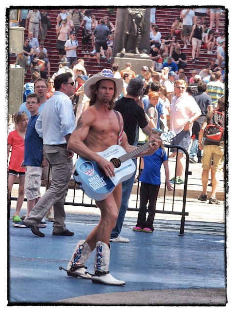 the Naked Cowboy, Times Square, new York City
