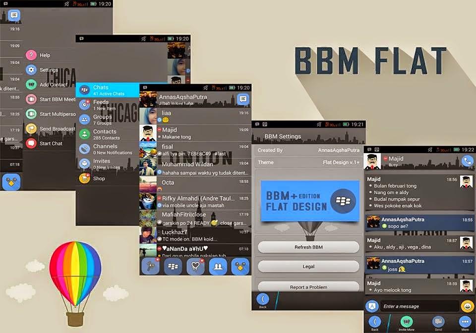 BBM Mod Tema Flat UI Terbaru v2.6.0.30