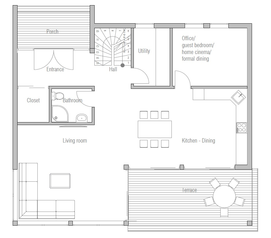 contemporary house plans modern house plan ch172