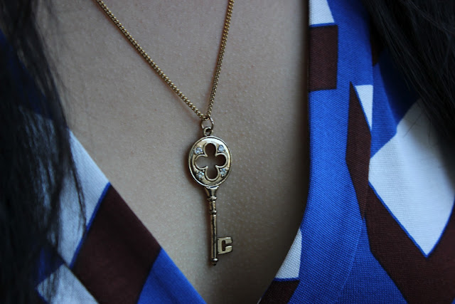Forever 21 Gold Key Necklace