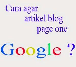 cara blog muncul di halaman satu google