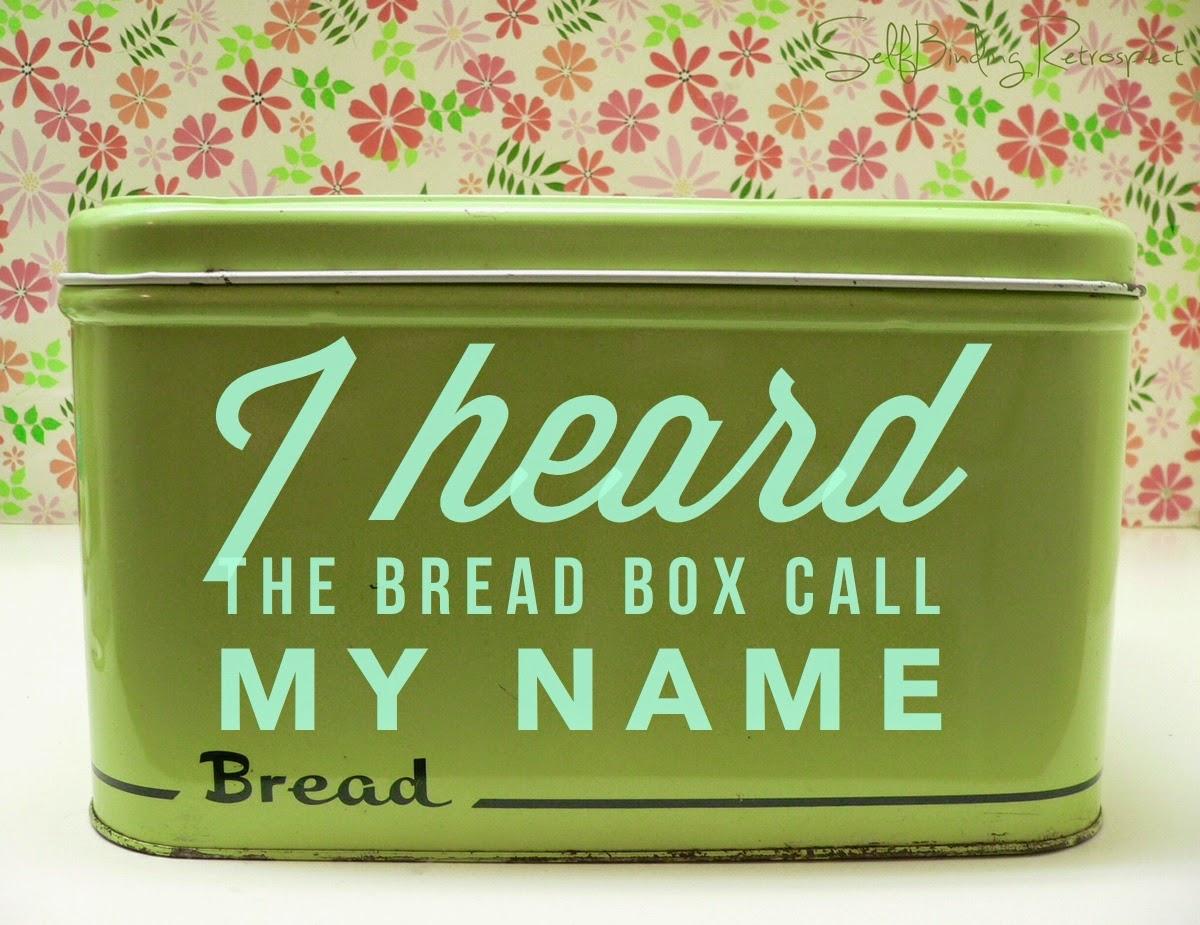 retro bread box, tin