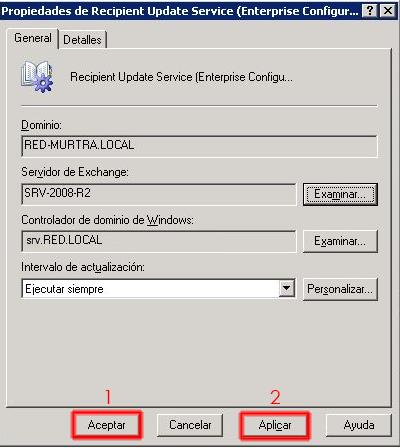 Cambiado el servidor de exchange por el nuevo Echange 2010.