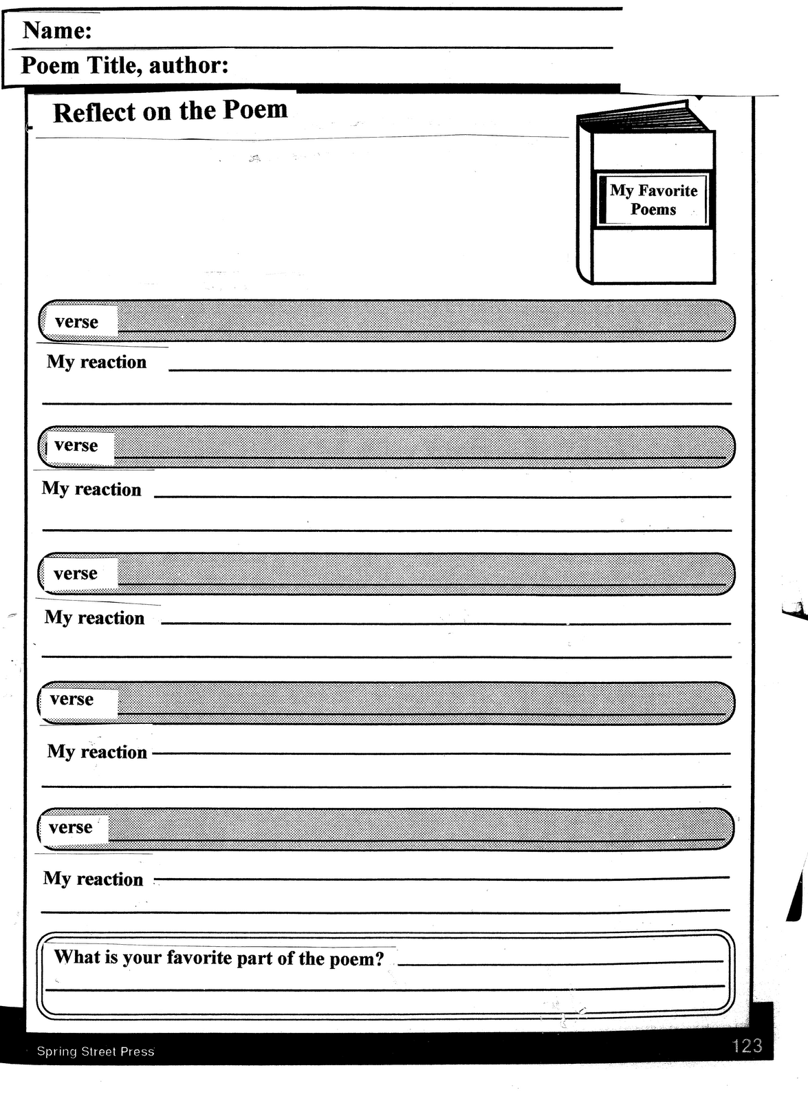 Printables Poetry Analysis Worksheet poem analysis worksheet davezan poetry worksheets davezan