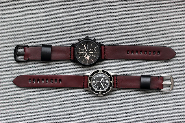 Worn & Wound Model 1 Horween Crimson watch strap