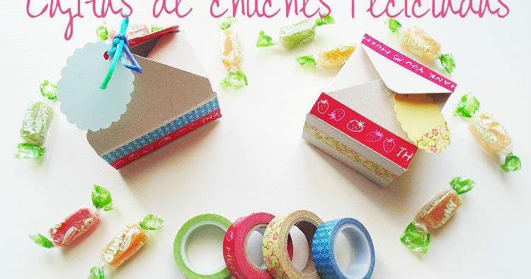 Cajas de chuches con cart n reciclado el rinc n de las cosas bonitas - Cajas de carton bonitas ...