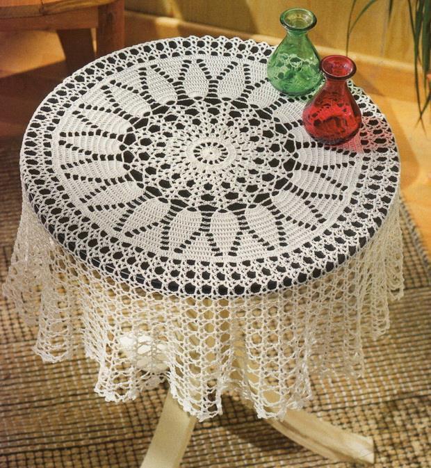 Mantel redondo al crochet / Esquema crochet | Todo crochet