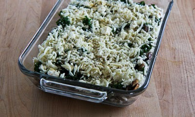 Kale, Mushroom, Feta, and Mozzarella Breakfast Casserole ...