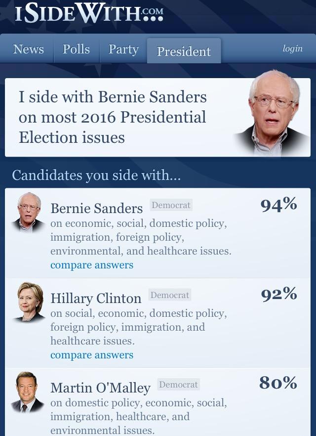 Www isidewith com political quiz