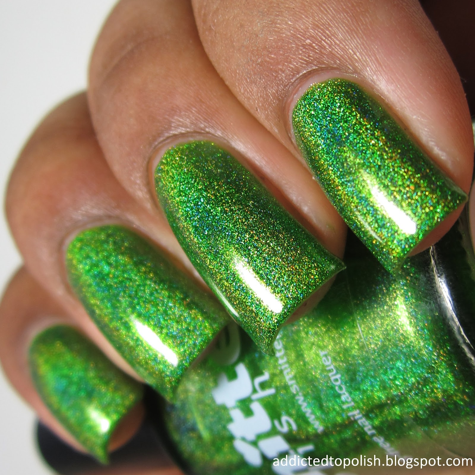 smitten-polish-girl-sprouts-green-holo
