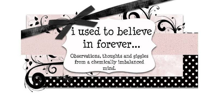 i used to believe in forever...