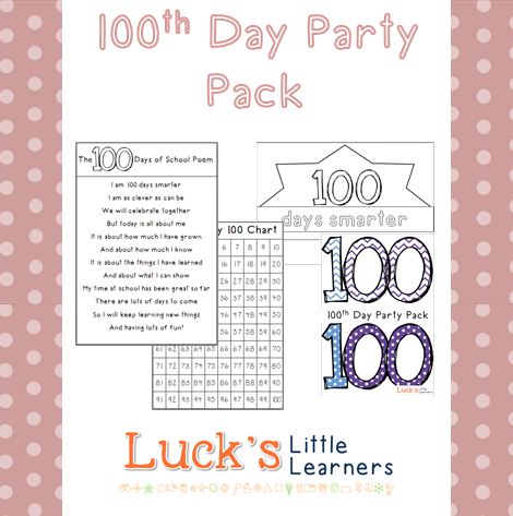 http://www.teacherspayteachers.com/Product/100th-Day-of-School-Party-Pack-1204898
