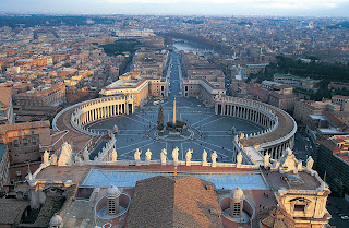 Aerial picture of the Vatican