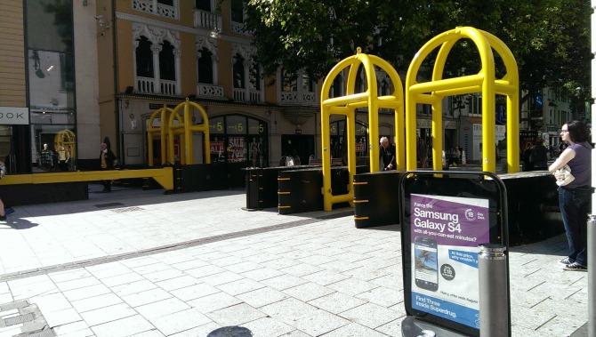 Barricades in Cardiff