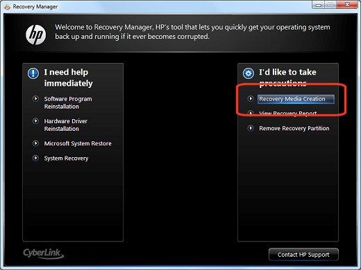 windows 7 create recovery usb