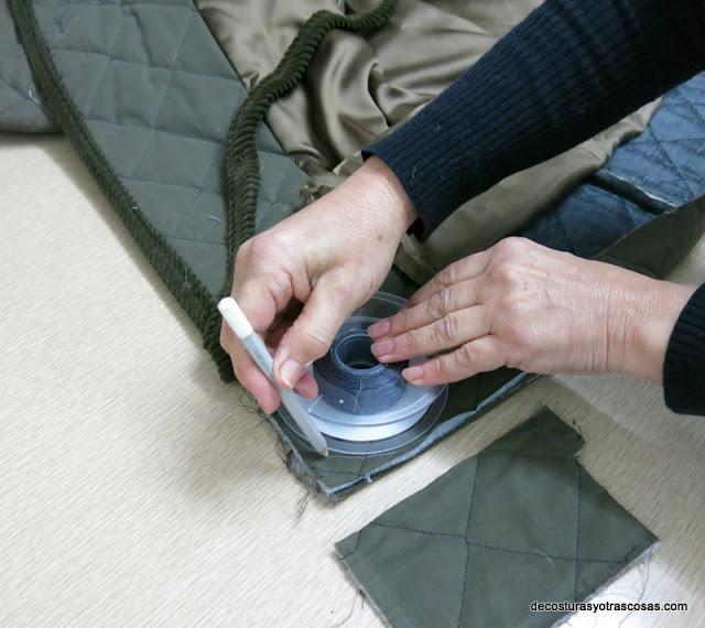 marcar y redondear las esquinas de un abrigo