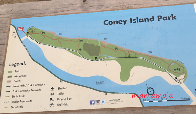Coney Island Park, map