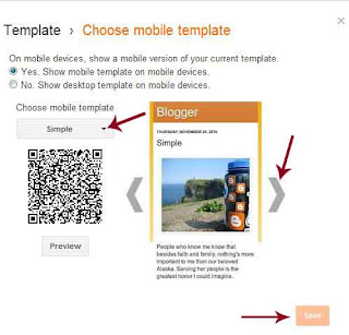 blogger mobile template settings