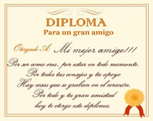diploma, amigo, frases bonitas amistad