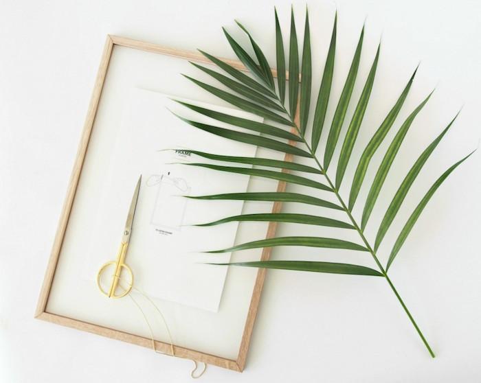 materiales para hacer un cuadro con una hoja de palmito-diy