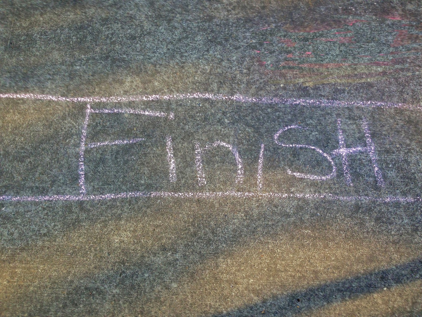 Chalk finish line photo by Nancy Zavada