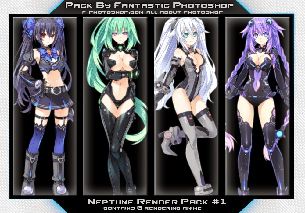 hyperdimension neptunia render pack