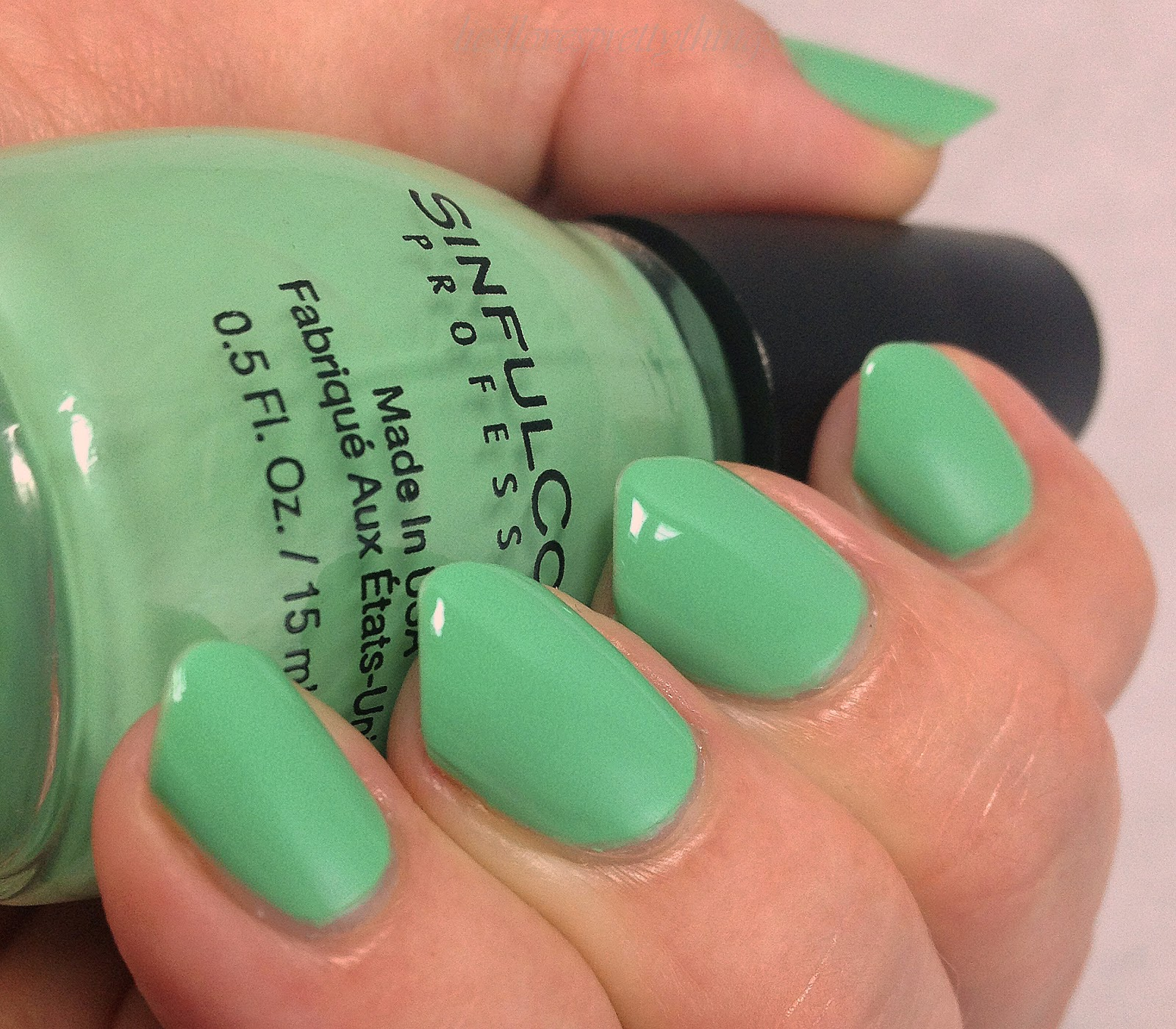 Sinful Colors Mint Tropics swatch and review