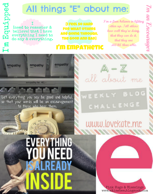 [e] A-Z All About Me Blog Challenge