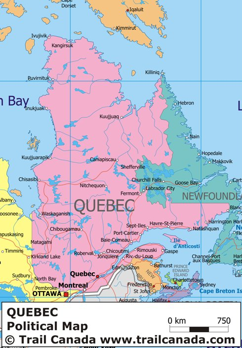 Map of Canada Regional City in the Wolrd Quebec Map Regional