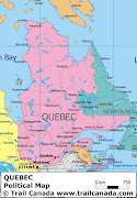 Quebec Map Regional Political Province (quebec map regional city)