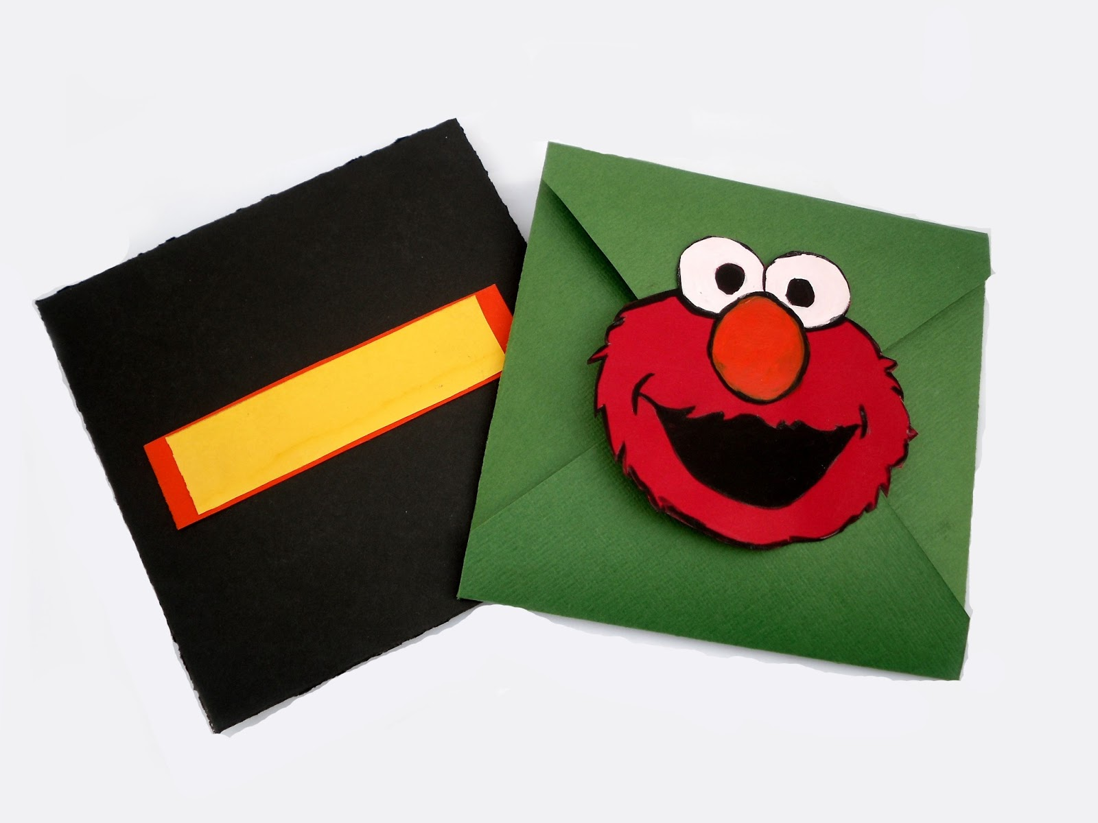 The Blooming Orchids: TUTORIAL: Cookie Monster & Elmo envelope card