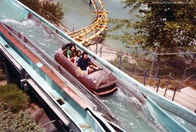 Log Jammer Magic Mountain flume ride 1975 goldrusher