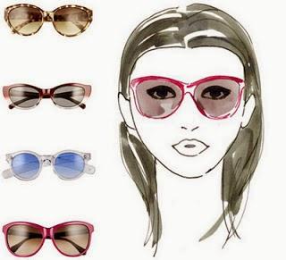 Kacamata untuk wajah bentuk hati