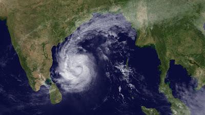 helpline on cyclone thane
