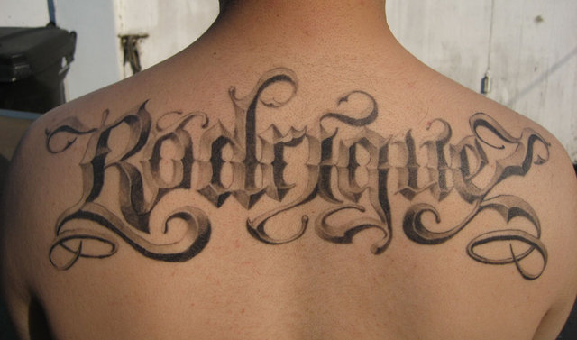 fonts tattoos for