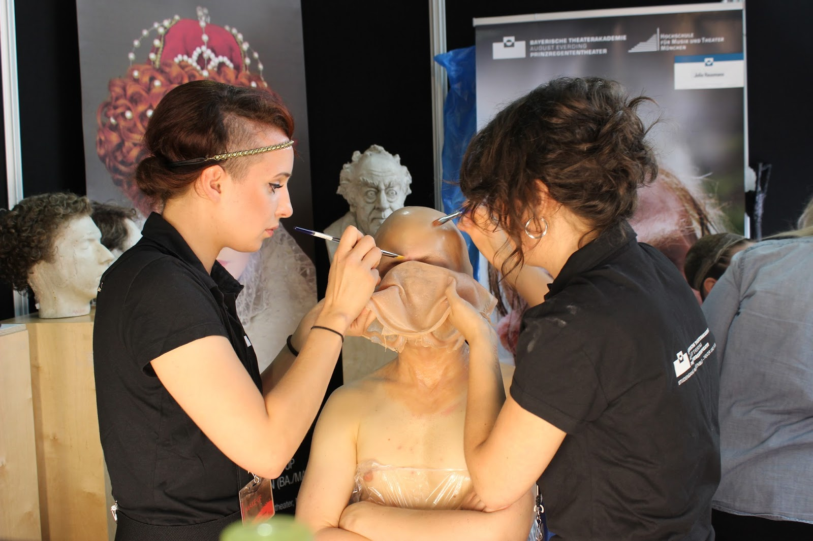 IMATS london 2014 applying prosthetics to face