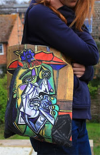 Picasso's Weeping Woman as shoulder-bag
