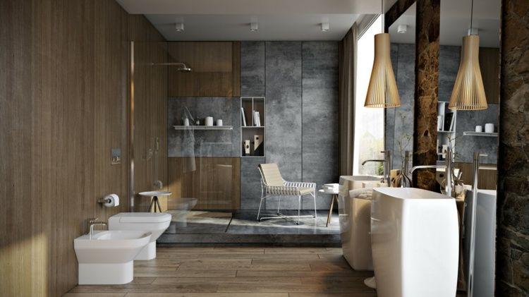 Baño De Lujo Pequeno: de hidromasaje muy lujosa y un gran espejo a modo de tocador en el