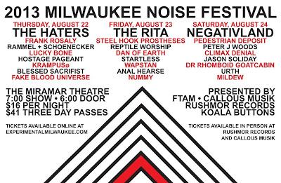 2013 Milwaukee Noise Festival (Negativland/The Haters/The Rita)